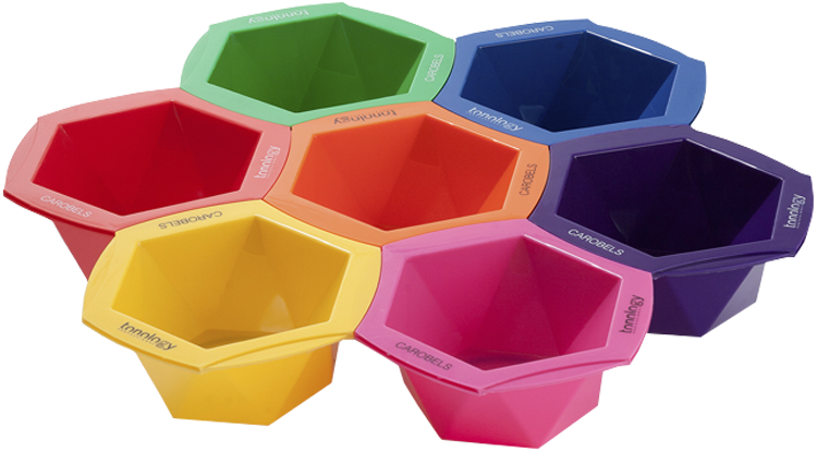 Rainbow Color Mixing Bowls
