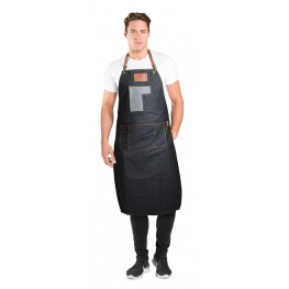 Betty Dain Brooklyn Denim & Leather Barber Apron