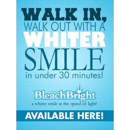 Bleach Bright Window Cling Sign