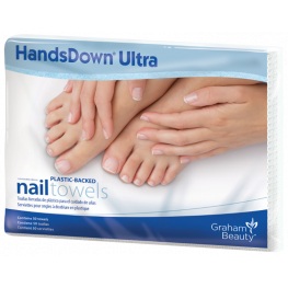 HandsDown Plastic-Backed Nail Towels