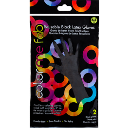 Framar Reusable Black Latex Gloves (Bag of 2)