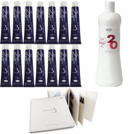 Lisap Absolute 3 Ammonia Free Color 14 Piece Stylist Kit