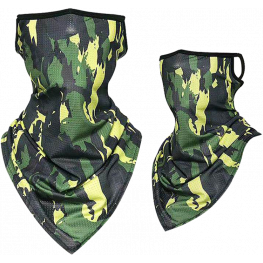 Face Mask Breathable Neck Cover Camo Print