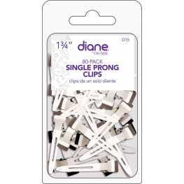 Diane Single Prong Clips 80 Pack
